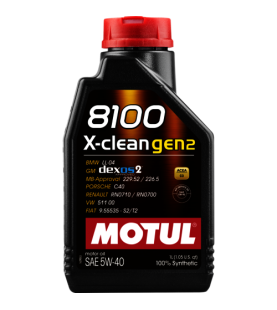 MOTUL 5W-40 8100 X-CLEAN...